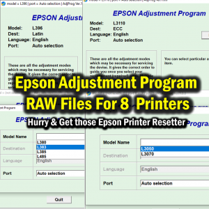 Epson Adjustment Program RAW Files For L380 L383 L385 L485 L396 L3050 L3070 L3110 Printer